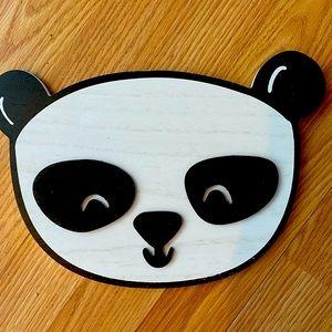 Cute panda bear wall art